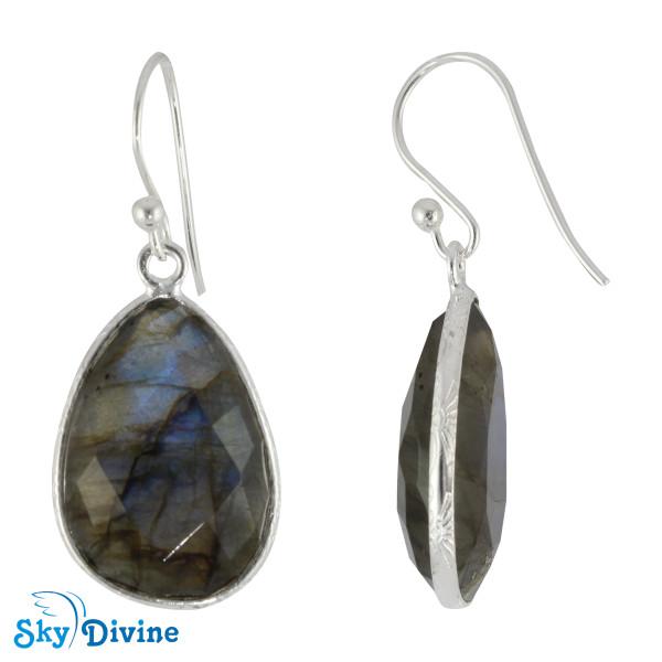 925 Sterling Silver Labradorite Earring SDER2144 SkyDivine Jewelry Image2