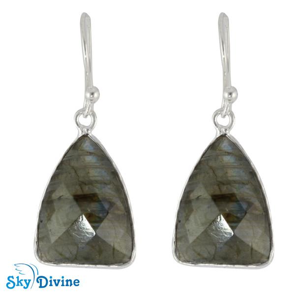 Sterling Silver Labradorite Earring SDER2148 SkyDivine Jewelry