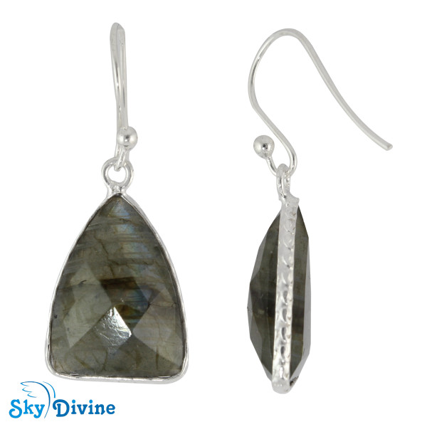 Sterling Silver Labradorite Earring SDER2148 SkyDivine Jewelry Image2