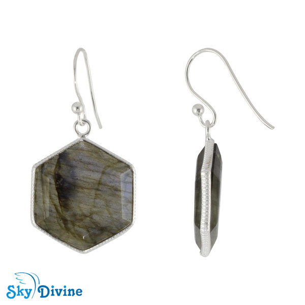 925 Sterling Silver Labradorite Earring SDER2155 SkyDivine Jewellery Image2
