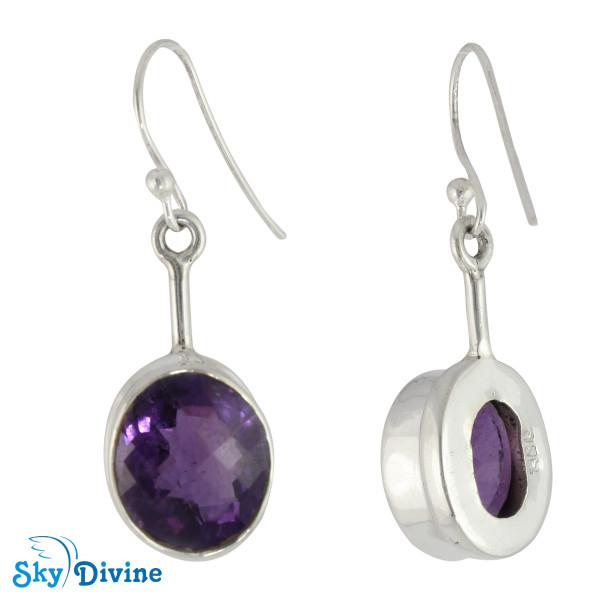 Sterling Silver amethyst Earring SDER2156 SkyDivine Jewellery Image2