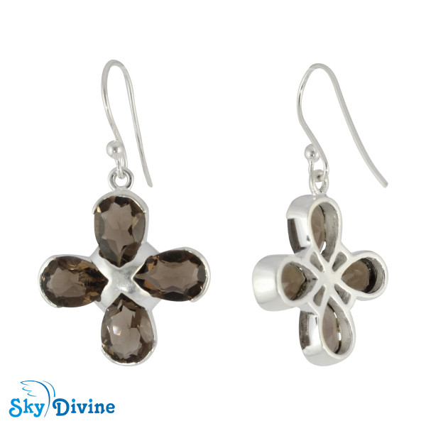 Sterling Silver Smoky Quartz Earring SDER2175 SkyDivine Jewelry Image2