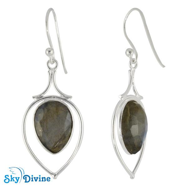 925 Sterling Silver Labradorite Earring SDER2183 SkyDivine Jewellery Image2
