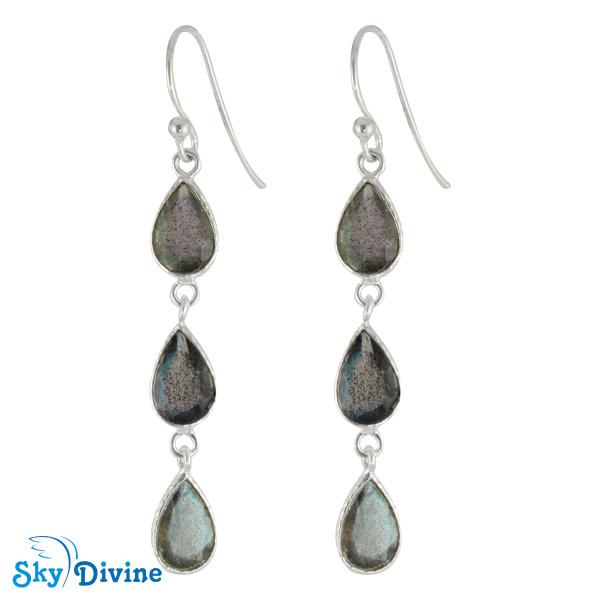 Sterling Silver Labradorite Earring SDER2194 SkyDivine Jewelry