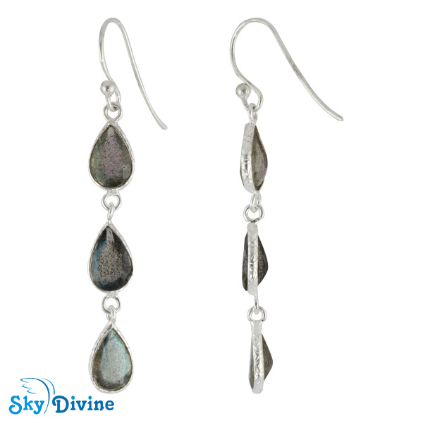 Sterling Silver Labradorite Earring SDER2194 SkyDivine Jewelry Image2