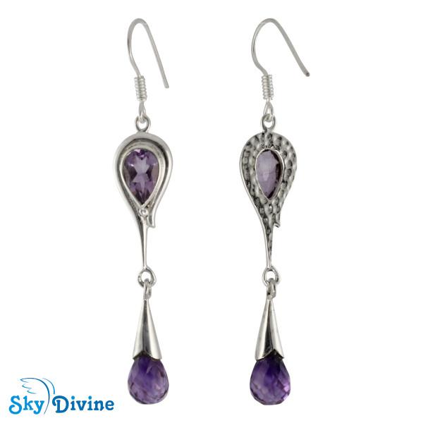 Sterling Silver amethyst Earring SDAER21c SkyDivine Jewellery Image2