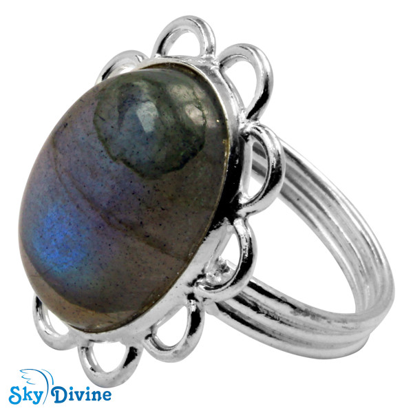 Sterling Silver Labradorite Ring SDR2106 SkyDivine Jewellery RingSize 5.5 US Image2