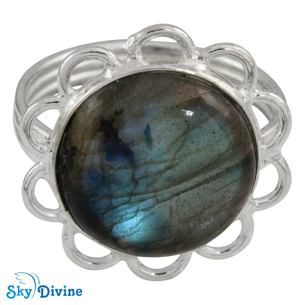 Sterling Silver Labradorite Ring SDR2108 SkyDivine Jewellery RingSize 6 US Image2