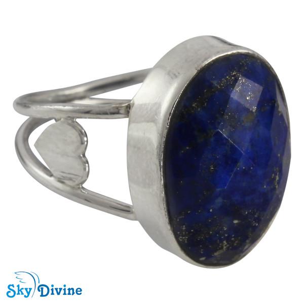 925 Sterling Silver lapis lazuli Ring SDR2109 SkyDivine Jewellery RingSize 8 US Image2