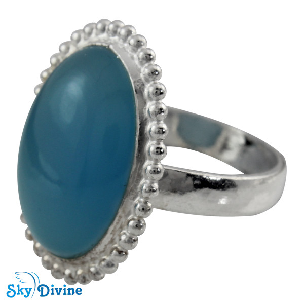 Sterling Silver Chalcedony Ring SDR2110 SkyDivine Jewelry RingSize 7 US Image2