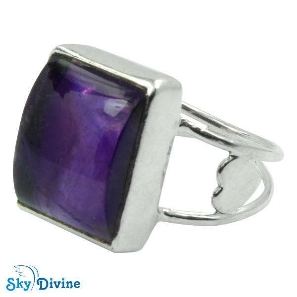 Sterling Silver amethyst Ring SDR2112 SkyDivine Jewellery RingSize 7.5 US Image2