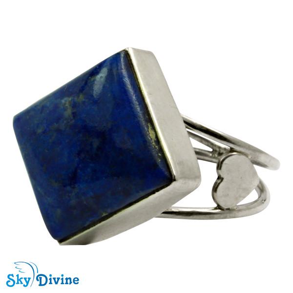 Sterling Silver lapis lazuli Ring SDR2120 SkyDivine Jewellery RingSize 8.5 US Image2
