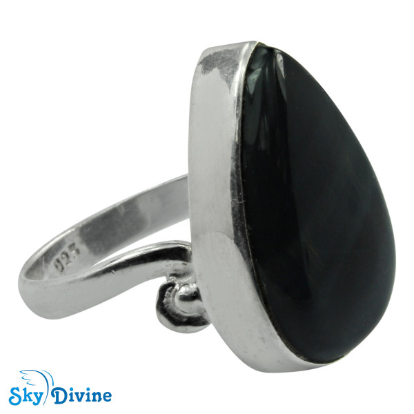 925 Sterling Silver Black Onyx Ring SDR2123 SkyDivine Jewellery RingSize 8 US Image2