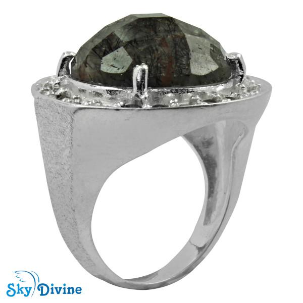 Sterling Silver Black Rutile Ring SDR2135 SkyDivine Jewelry RingSize 7 US