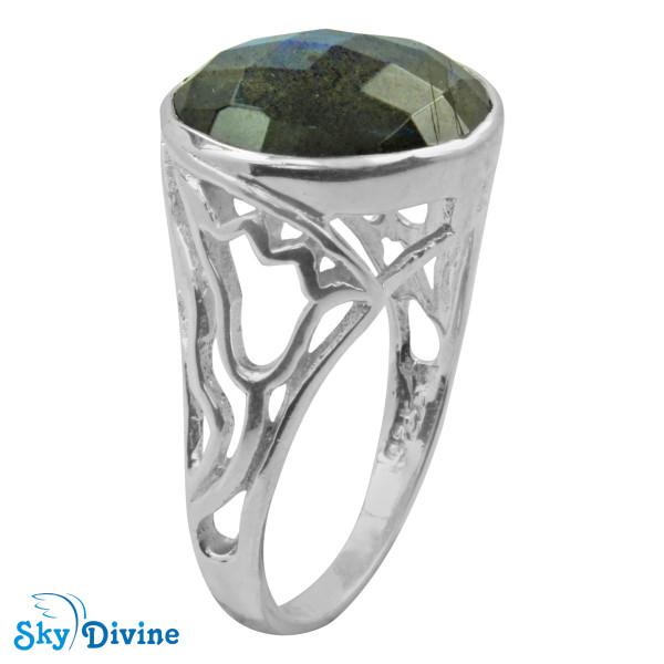 Sterling Silver Labradorite Ring SDR2144 SkyDivine Jewellery RingSize 8.5 US