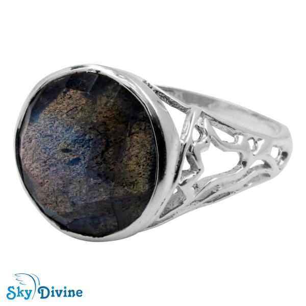 Sterling Silver Labradorite Ring SDR2144 SkyDivine Jewellery RingSize 8.5 US Image2
