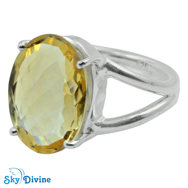 925 Sterling Silver Citrine Ring SDR2147 SkyDivine Jewellery RingSize 7.5 US Image2