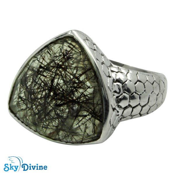 925 Sterling Silver Black Rutile Ring SDR2163 SkyDivine Jewelry RingSize 7 US Image2