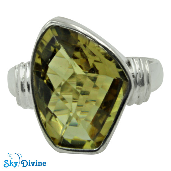 925 Sterling Silver Green Amethyst Ring SDR2179 SkyDivine Jewellery RingSize 7.5 US Image2