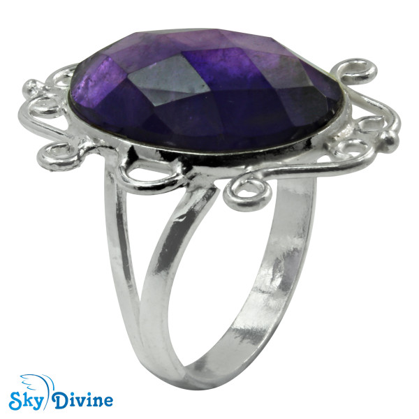 Sterling Silver amethyst Ring SDR2180 SkyDivine Jewelry RingSize 9 US