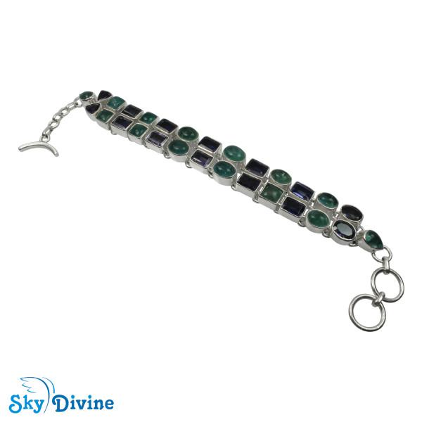 925 Sterling Silver iolite Bracelet SDABR02 SkyDivine Jewellery