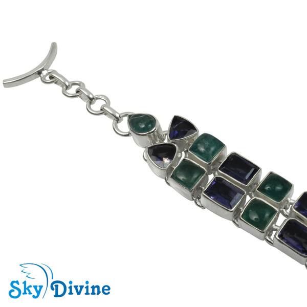 925 Sterling Silver iolite Bracelet SDABR02 SkyDivine Jewellery Image2