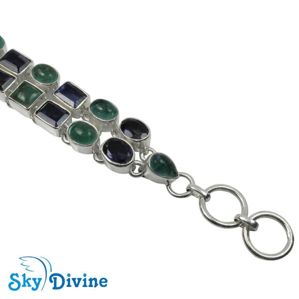 925 Sterling Silver iolite Bracelet SDABR02 SkyDivine Jewellery Image4
