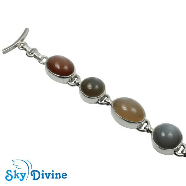 925 Sterling Silver moon stone Bracelet SDABR10 SkyDivine Jewellery Image2