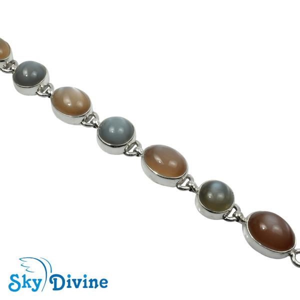 925 Sterling Silver moon stone Bracelet SDABR10 SkyDivine Jewellery Image3