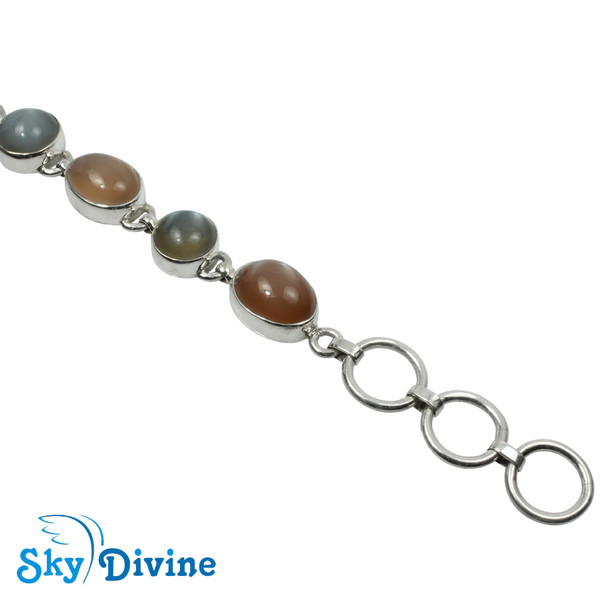 925 Sterling Silver moon stone Bracelet SDABR10 SkyDivine Jewellery Image4