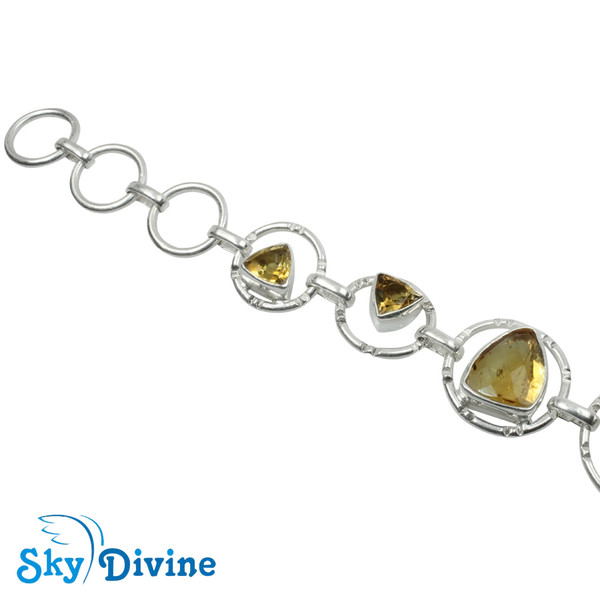 925 Sterling Silver Citrine Bracelet SDBR2116 SkyDivine Jewellery Image2