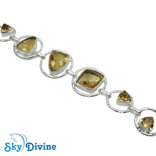 925 Sterling Silver Citrine Bracelet SDBR2116 SkyDivine Jewellery Image3