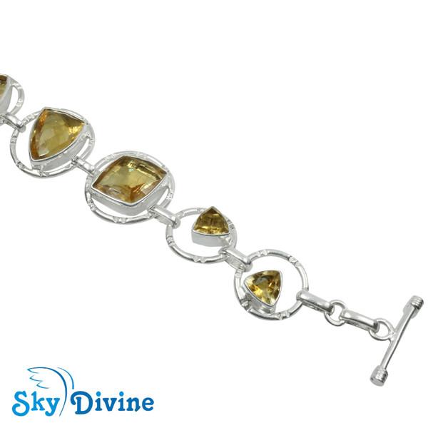 925 Sterling Silver Citrine Bracelet SDBR2116 SkyDivine Jewellery Image4