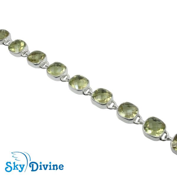925 Sterling Silver lemon topaz Bracelet SDBR2118 SkyDivine Jewellery Image3