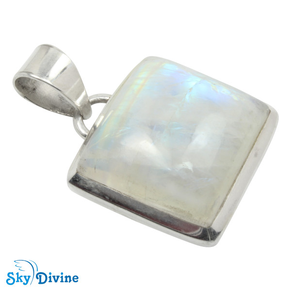 925 Sterling Silver Rainbow moon Stone Pendant SDAPN08 SkyDivine Jewellery