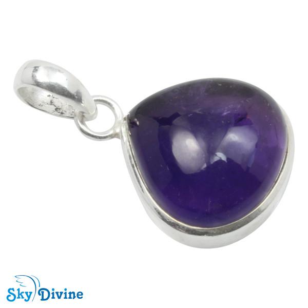 925 Sterling Silver amethyst Pendant SDPN2105 SkyDivine Jewellery