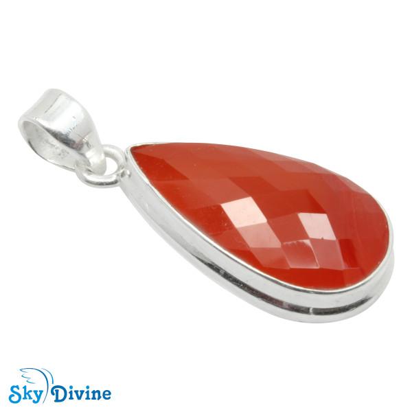 925 Sterling Silver carnelian Pendant SDPN2117 SkyDivine Jewellery