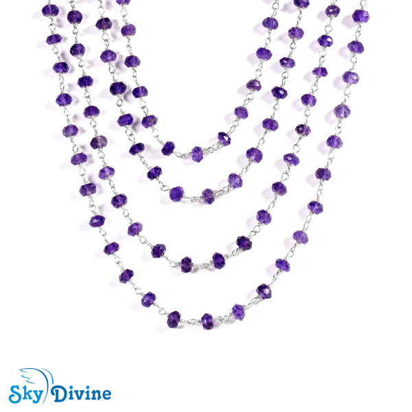 925 Sterling Silver amethyst Necklace SDANK01 SkyDivine Jewellery