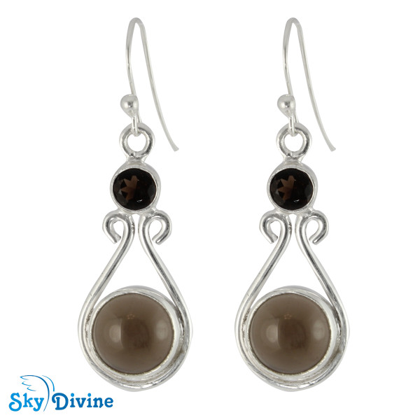 Sterling Silver Smoky Quartz Set SDAST01 SkyDivine Jewelry Image3
