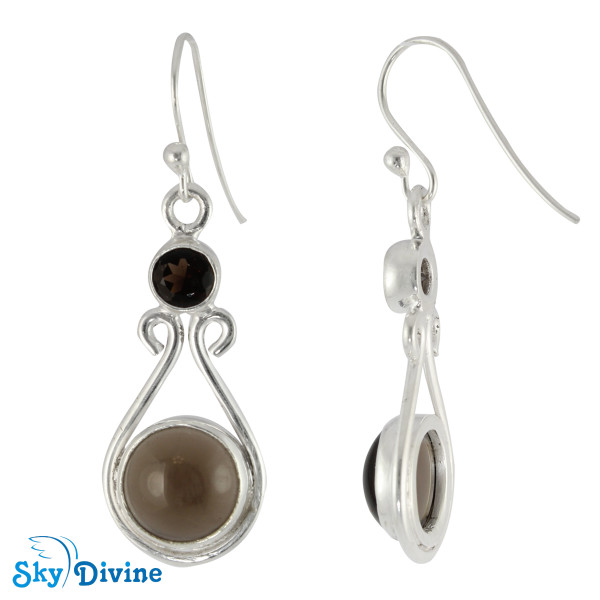 Sterling Silver Smoky Quartz Set SDAST01 SkyDivine Jewelry Image4