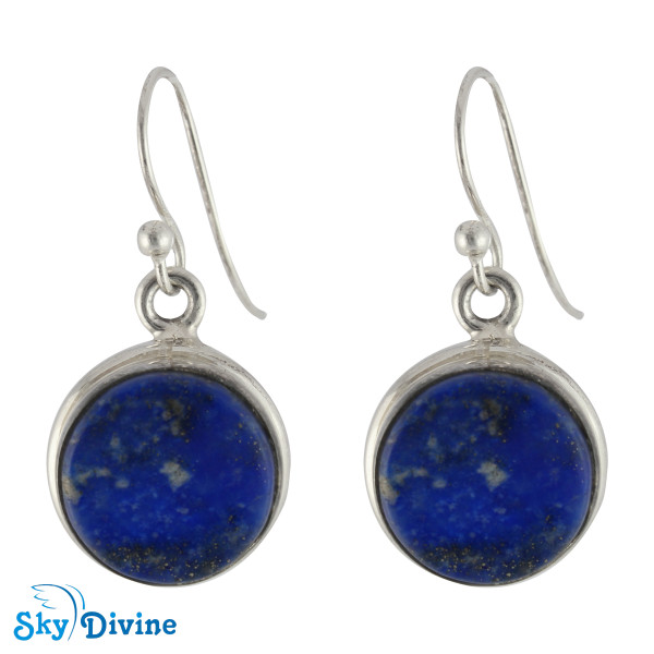 925 Sterling Silver lapis lazuli Set SDAERP13 SkyDivine Jewellery Image2
