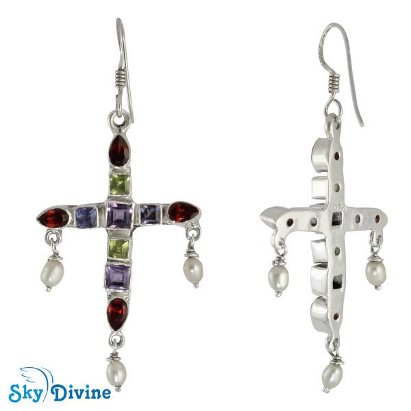 Sterling Silver amethyst Earring SDAER20 SkyDivine Jewellery Image2