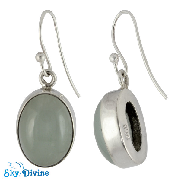 Sterling Silver moon stone Earring SDER2111 SkyDivine Jewelry Image2