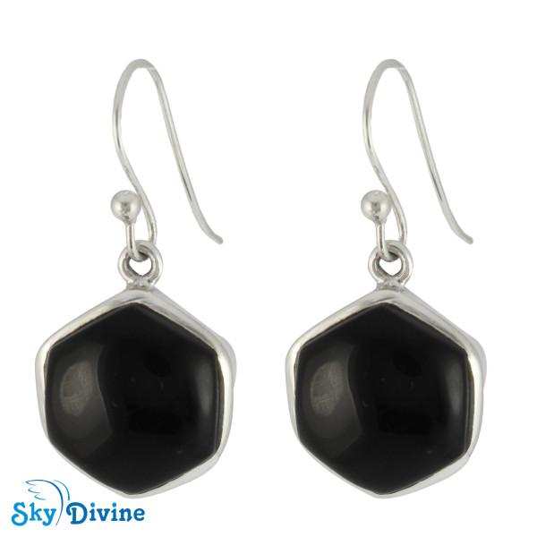 925 Sterling Silver Black onyx Earring SDER2112 SkyDivine Jewellery