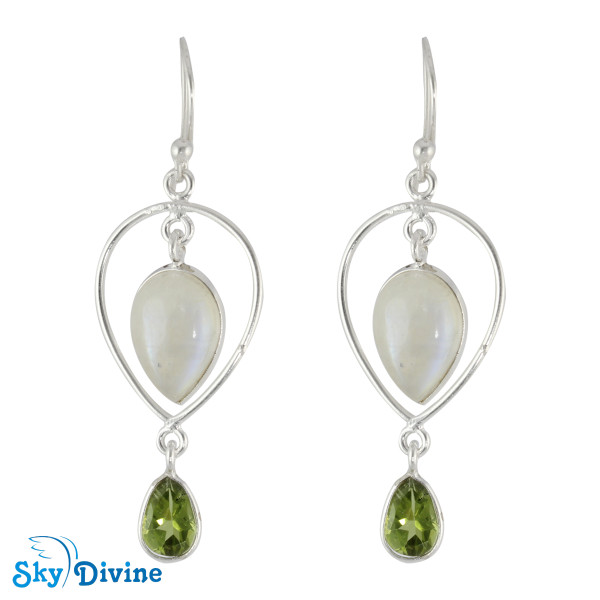 Sterling Silver moon stone Earring SDER2122 SkyDivine Jewellery