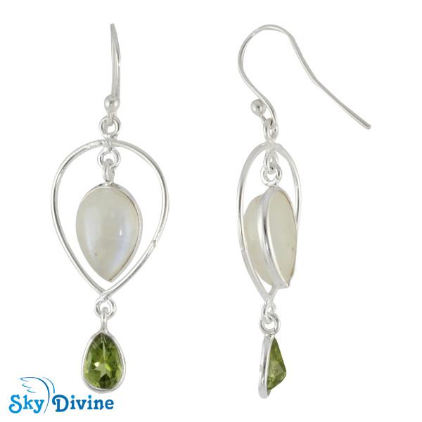 Sterling Silver moon stone Earring SDER2122 SkyDivine Jewellery Image2