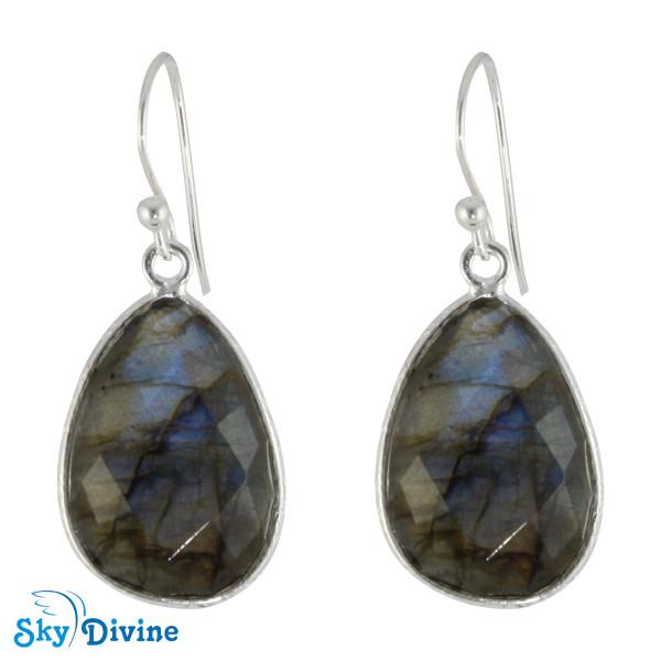 925 Sterling Silver Labradorite Earring SDER2144 SkyDivine Jewelry