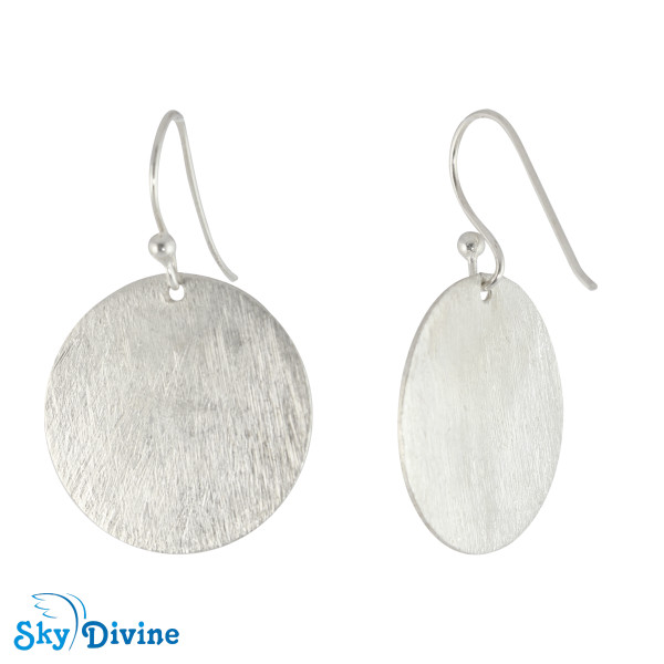 925 Sterling Genuine Silver Earring SDAER09f SkyDivine Jewellery Image2