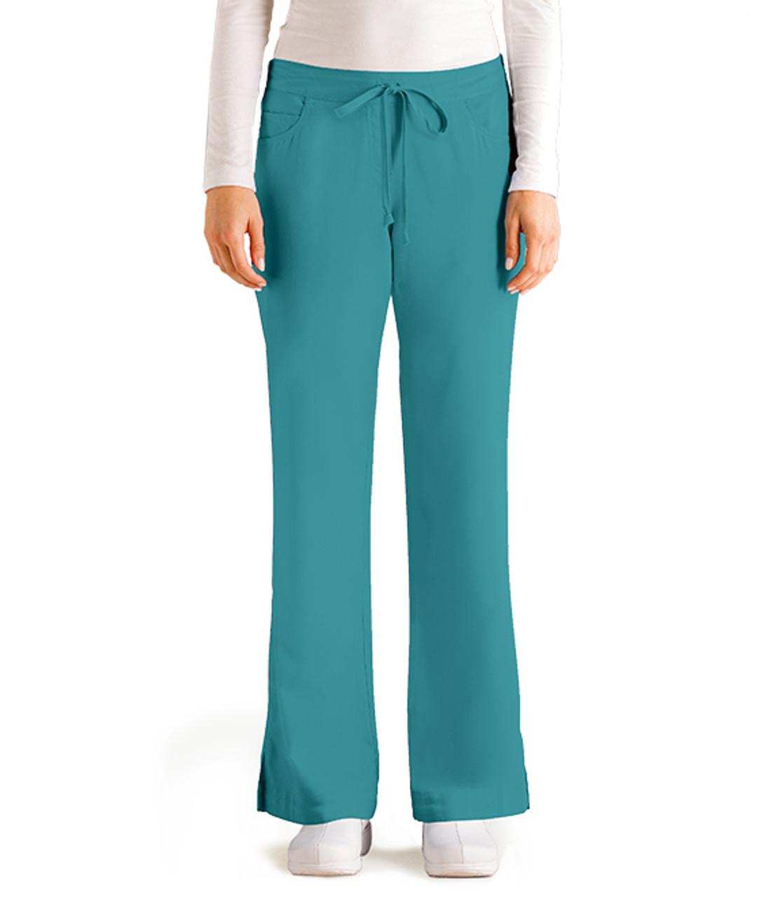 (4232P) Grey's Anatomy Scrubs 5 Pocket Drawstring Pant (Petite)