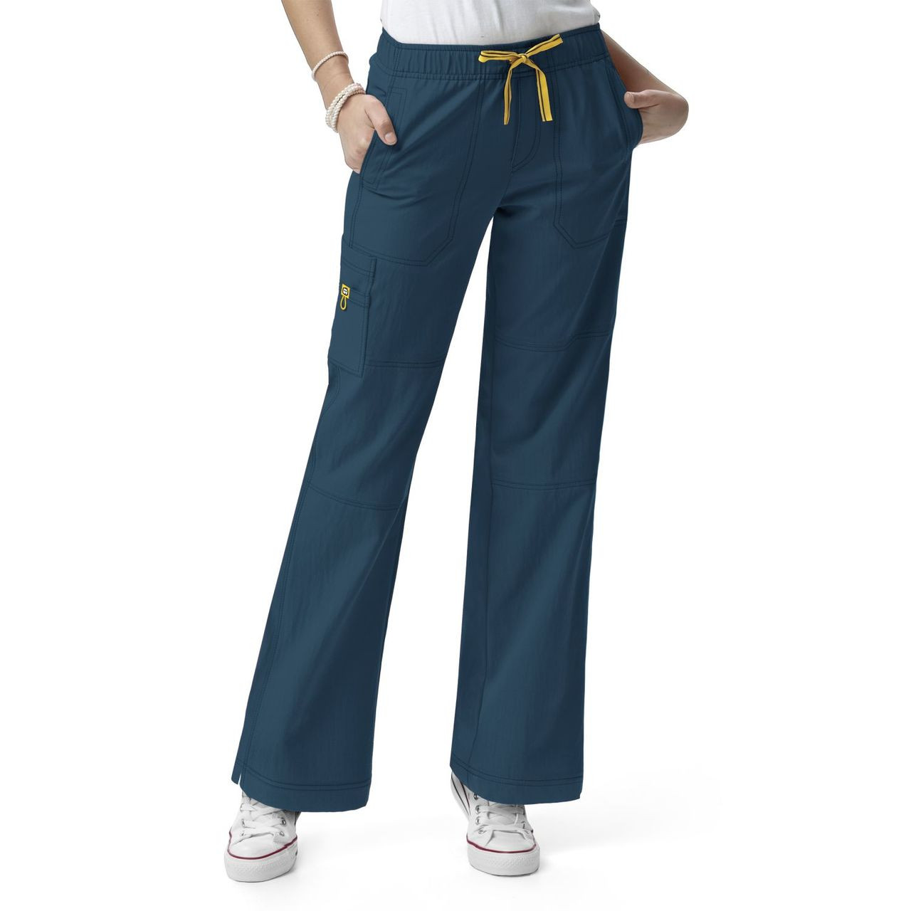 (5214P) WonderWink Four-Stretch Women's Sporty Cargo Pant Petite